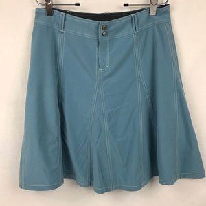 Athleta Bodega Skirt Sz 10 Blue Attached Shorts